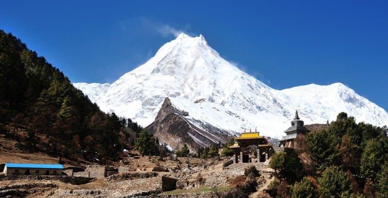 Mt. Manaslu in  Himalaya, Nepal