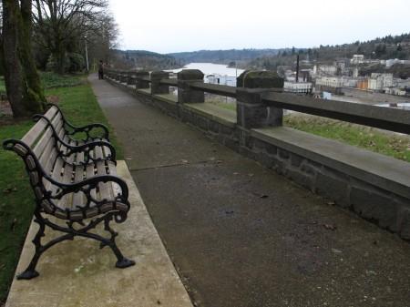 McLoughlin Promenade above Willamette Falls in Oregon City.