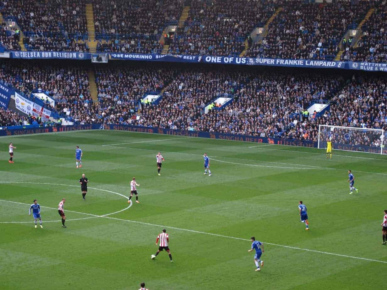 Sunderland at Chelsea in the Premier League