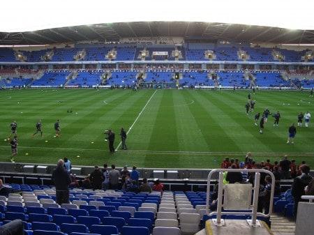 The Madejski Stadium in Reading.