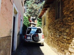 Driving through Corfino, start of many great Tuscany hikes.