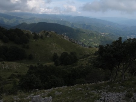 Hiking in Tuscany: View from the Pania di Corfino