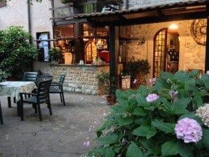 The courtyard at La Baita.