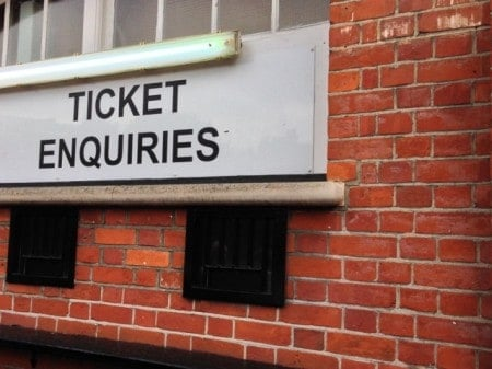 How to buy tickets for an English soccer game.