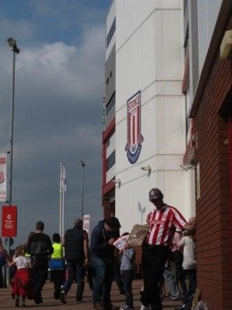 Britannia Stadium in Stoke.