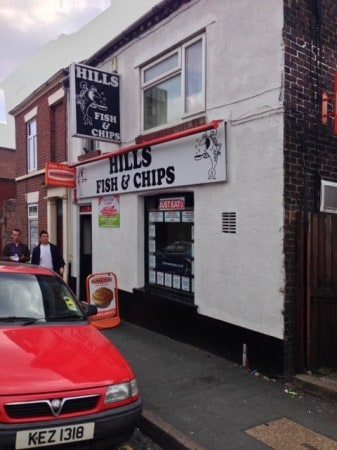 """Hill Street Chippy"" in Stoke."