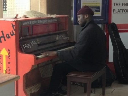 First time I've seen a piano in a train station!