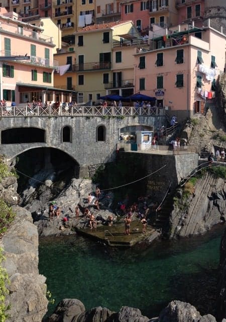 The waterfront at Montegeggioni, one of the five villages in Cinque Terre.