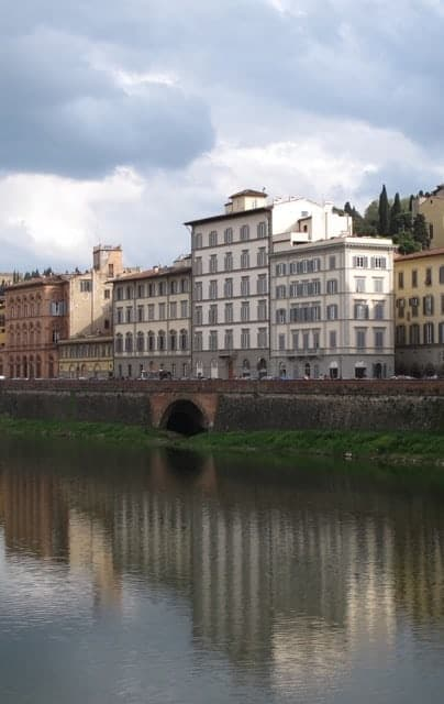 The Arno River in Florence, Tuscany.