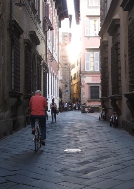 The peaceful, lovely streets of Lucca, Tuscany.