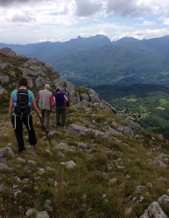 Hiking at the top of Pania di Corfino in Tuscany.