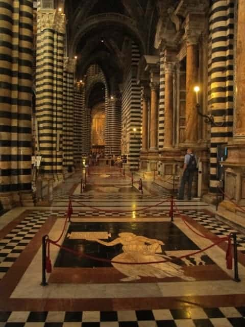 The floor of Siena's duomo is amazing!