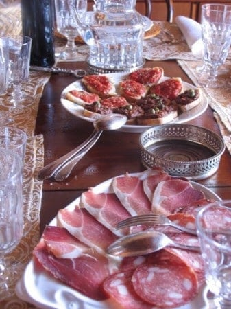 "Antipasta course during my ""Trails and Tables of Tuscany"" trip"
