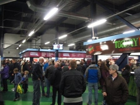 Concessions area at Villa Park.