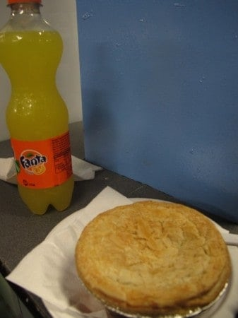 That's right: pie and a soda!