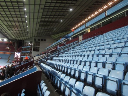 The other seats in the Trinity Road stand at Villa Park.