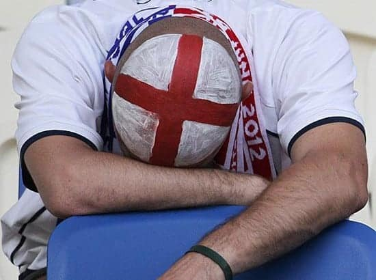 Another England fan, gutted again.