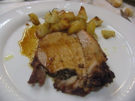 Roasted pork with potatoes - nice and simple, fresh, and perfectly cooked.