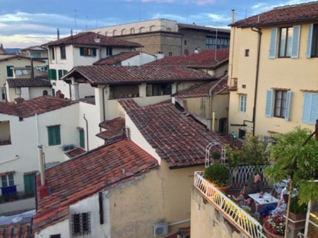 Rooftop dining in Florence. Read all about Italian hiking and eating at paulgerald.com.
