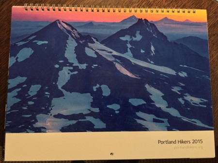 Cover of the 2015 portlandhikers.org calendar.