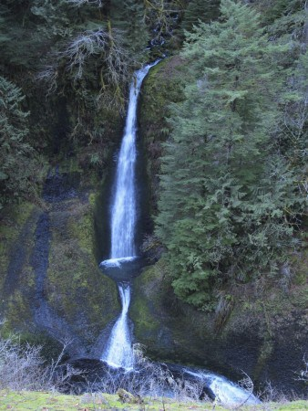 One of many waterfalls along the Eagle Creek Trail.