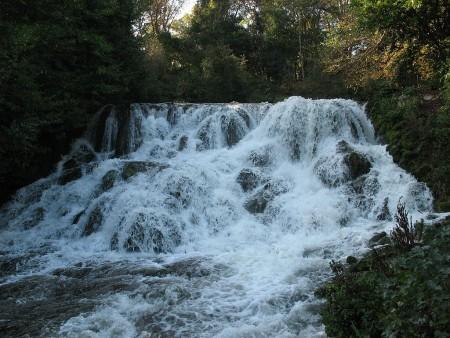 Blenheim Cascade, via Wikipedia.