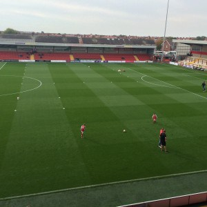 The pitch at Fleetwood Town FC.
