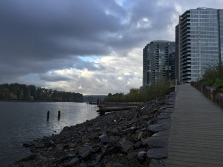 New ramp down to the Willamette near OHSU Wellness Center.