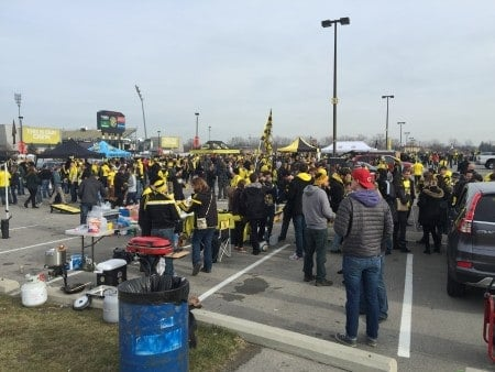 Columbus Crew tailgating scene, which was more impressive than I captured here.