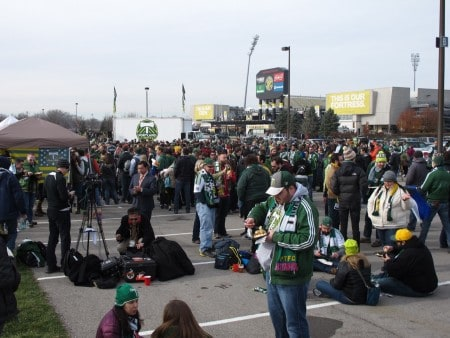 Timbers Army tailgate.