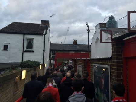 Walking out of Griffin Park, and into someone's garden?