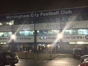 St. Andrew's, home of Birmingham City FC.
