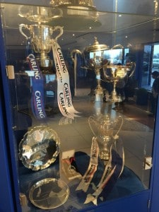 The trophy ... er, cabinet at Birmingham City FC.