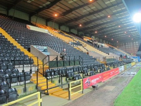 The Main Stand, where I sat.