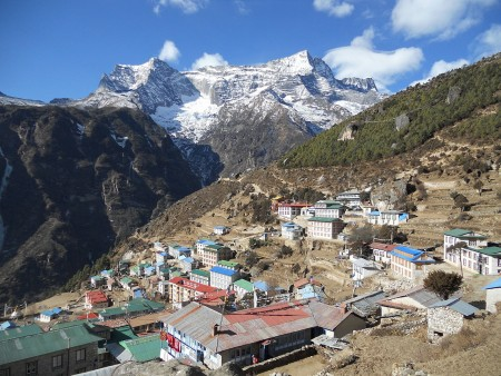 Namche Bazaar (source: Krish Dulal via Wikimedia