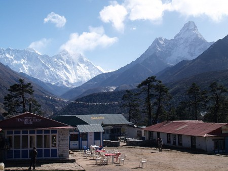 View from Tengboche (source: shicks via Wikimedia