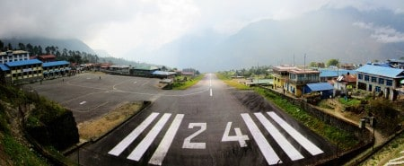 The airport at Lukla (via Embark Adventures.)