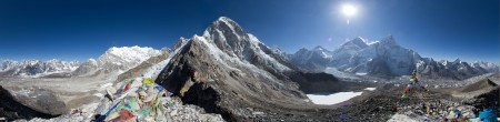 Panorama from Everest Base Camp (source: Snowman Studios via Wikimedia