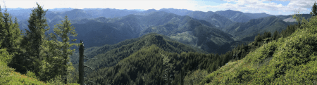 Panorama from Kings Mountain Summit.