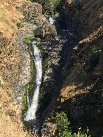 100-foot Mosier Creek Falls is just one attraction on this easy hike.