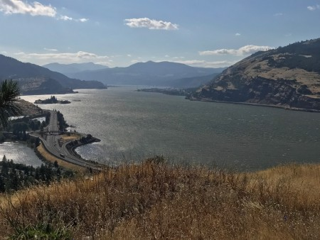 Looking west from Mosier Viewpoint.