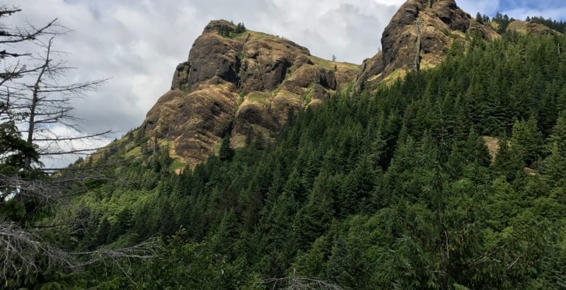 The best view of Saddle Mountain is actually from a side trail on the way up.