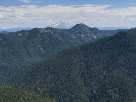 Battle Axe, Battle Axe Creek drainage and Mount Jefferson.