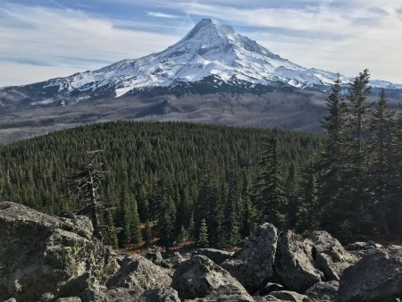 Mt. Hood and the Dollar Fire area from Owl Point.