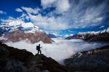 On the Manaslu Circuit in Nepal